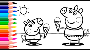 Free Colouring Sheets Peppa Pig L L L L