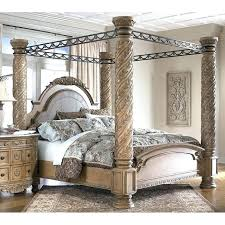 Amazing Of North Shore King Canopy Bed With Furniture Ashley Be ...