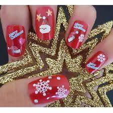 Amazon.com : Christmas Snowflakes Design 3D Nail Art Stickers ...