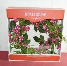 "Opalhouse- 20"" <b>Artificial Hyacinth Flower</b> And Vines <b>Wreath</b> Pink ..."