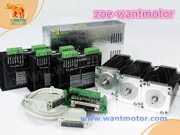 ship from de free wantai 4 axis nema 23 stepper motor 57bygh627 270oz in driver dq542ma 4 2a 50v 128micro power supply 350w