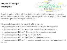 Project Manager Job Description Job Description Presentation Template Job Description Job