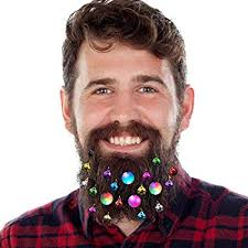Amazoncom Beardaments Beard Ornaments 12pc Colorful Christmas