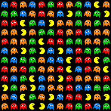 Pac Man Pattern Stunning Pacman Seamless Generated Pattern Art Print By Miroslav Nemecek