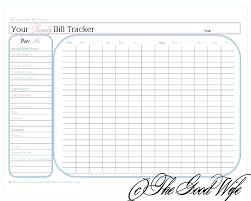 Monthly Bill Template Free Household Bills Template Spreadsheet For