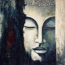 oil painting modern art buddha canvas