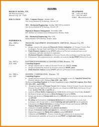 Mechanical Engineer Resume Example Engineering Templates Beautiful