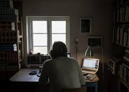 office in the home. The Writer Karl Ove Knausgaard Poses For A Portrait In His Home Ystad, Sweden. Office Is Way Of Professionalizing Job That Many People Dismiss