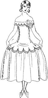 Wedding Dresses Coloring Pages For Preschoolers