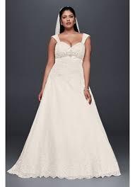 plus size wedding dress with removable straps david s bridal