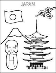 Kleurplaat Japan Vlag Pop Japan Kleurplaten School En Japan