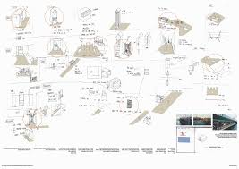 architecture design process sketches. sketch drawing investigating arrangements of programme and key moments in design. design process architecture sketches 2