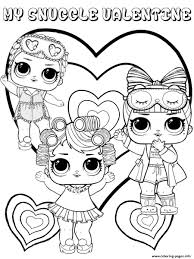 Snuggle Valentine Lol Dolls Kids Coloring Pages Printable