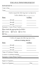 Paid Time Off Form Template Vacation Request Form Template Fresh Days Off Occasions Time O