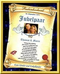 40hochzeitstag Schöne Glückwunschkarte In Form Einer Urkunde