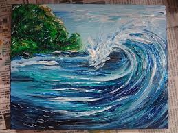 720x540 making waves in the world on the canvas creative indeed acrylic painting