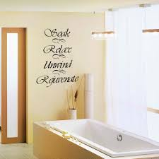 Bathroom Wall Decal Quote Soak Relax Unwind Rejuvenate Bath Room ...
