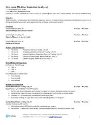 Physician Assistant Sample Resume For Job Seekers Melnic