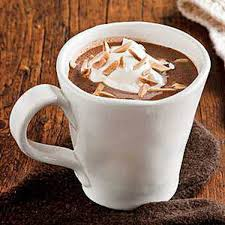 cup of hot chocolate with whipped cream. Unique Hot Nougat Hot Chocolate With Whipped Cream In Cup Of With L