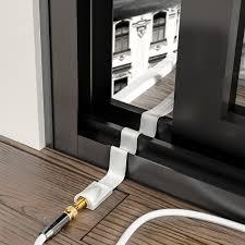 Deleycon Fensterdurchführung Für Sat Kabel Mit Klebepads 21cm