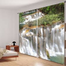 office drapes. Beautiful Waterfall 3D Photo Printing Blackout Window Curtains For Living Room Bedding Hotel/Office Office Drapes .