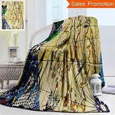 Amazon Com Unique Double Sides 3d Print Flannel Blanket