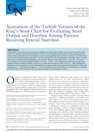 Stool Odor Chart Pdf Assessment Of The Turkish Version Of The Kings Stool