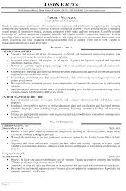 Construction Resume Template Unique Construction Project Manager Resume Template Free Templates Samples