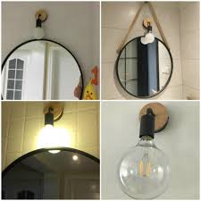 Modern Wood Wall Lamp Vintage Industrial Indoor Lighting Bedside Black Led Sconce Wall Light Up Down For Home Bedroom Fixtures