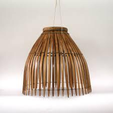 vintage bamboo lamp shade hanging wicker basket pendant lamp