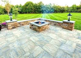 stone outdoor kitchen patio kit circular kits fire pit how to build brick without mortar