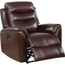revo luxury leather power recliner brown display gallery item 1 display gallery item 2