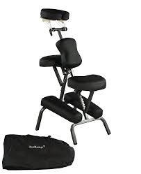 com portable massage chair comfort 4 thick foam light weight best massage brand with free carrying bag black health personal care