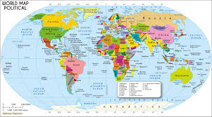 list of countries of the world  continents world map with countries