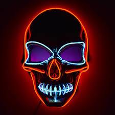 Light Up Skull Mask Glowcity Light Up El Wire Skull Mask Skull Mask Halloween