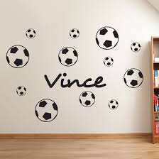 Muursticker Voetbal Met Eigen Naam Kies Formaat Kleur Gratis