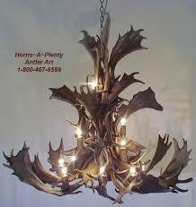 cascade natural fallow deer antler chandelier light