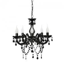 etienne 5 light chandelier black