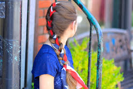 Fourth Of July Hairstyles 3 Minute Scarf Braid 4th Of July Hairstyles Cute Girls Hairstyles