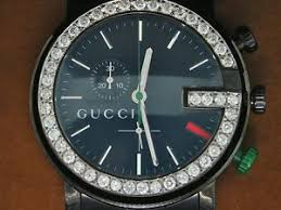 diamond gucci ya101331 watch 1 75 ct customs mens 101g black pvd image is loading diamond gucci ya101331 watch 1 75 ct customs