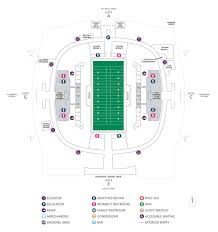 Football Seating Charts Mercedes Benz Superdome