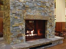 cozy interior stone fireplace designs mcgregor lake ledge thin indoor stone fireplace kits