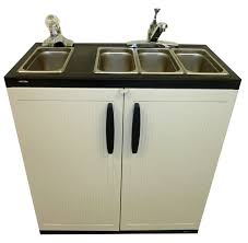 portable sink 4 compartment