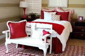 Red and White Bedroom