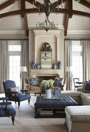 traditional living room with high ceiling greek key panel restoration hardware pinstripe flatweave rug