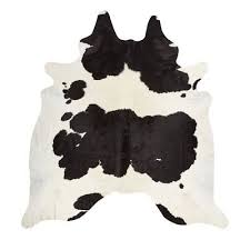 solid brazilian black and white cowhide rug natural cowskin area rug 5x5 ft