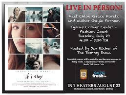 book signing flyer if i stay star chloe grace moretz author gayle forman in town for