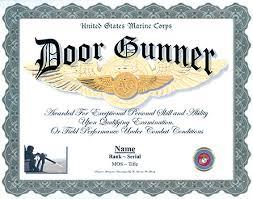 Marine Gunners Us Army Door Gunner Professional Display Recognition