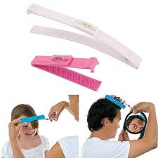 diy hair cutting clip comb tool trim bangs fashion hairstyle fringe cutter set pink