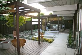 Exterior Design Modern Patio Design With Wood Pergola And Wicker